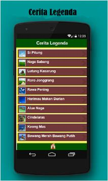 Cerita LegendaRakyat Indonesia apk screenshot