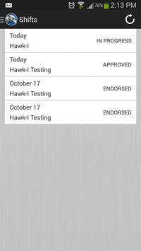 Hawk-I GPS Punchclock apk screenshot