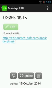 TK URL Shrink apk screenshot