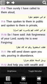 The Holy Quran, English/Arabic apk screenshot