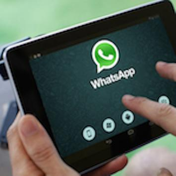 Guide for whatsapp tablets poster