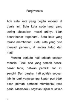 Cerpen - FORGIVENESS apk screenshot