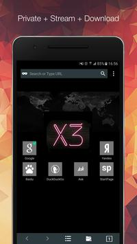 X3 Browser. Private & Download poster