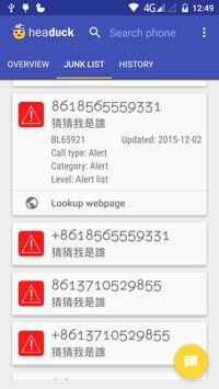 Headuck Call Blocker DEV (HK) apk screenshot