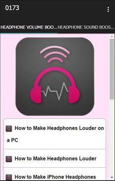 Headphone Volume Booster poster