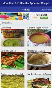 Healthy Appetizer Recipes apk screenshot