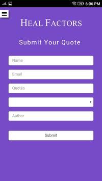 Wisdom Quotes - Heal Factors apk screenshot