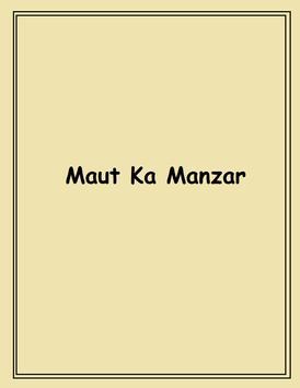 Maut ka Manzar poster