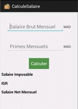 Calcul Salaire Brut/Net Maroc poster