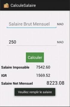 Calcul Salaire Brut/Net Maroc apk screenshot