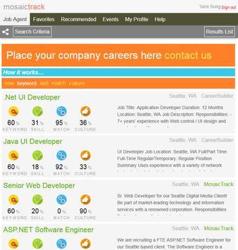 MosaicTrack Job Search Agent apk screenshot