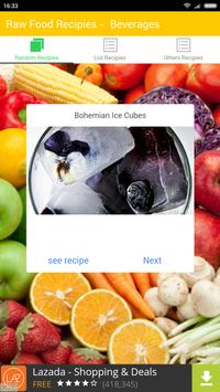 Raw Food Recipies- Beverages apk screenshot