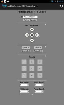 HuddleCam Air PTZ Control App apk screenshot