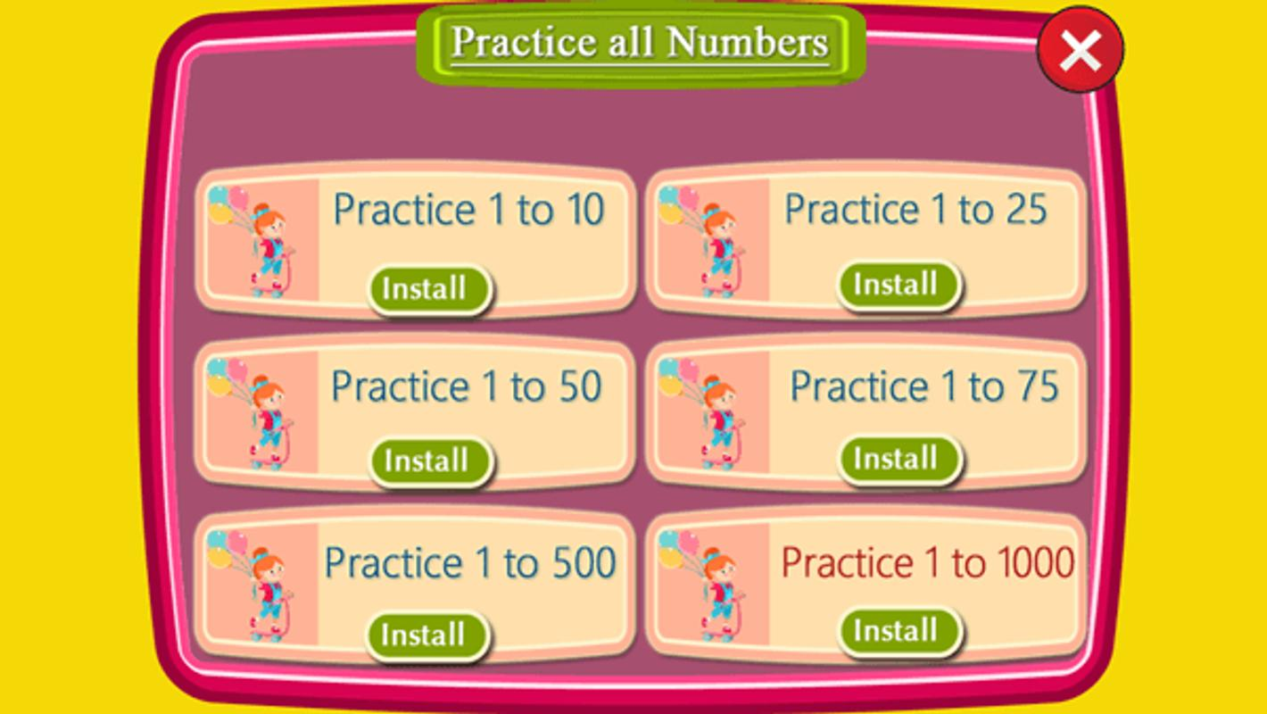 Printables English Conting 1to100 1 to 100 number counting game apk download free educational screenshot