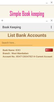 Simple Book Keeping apk screenshot