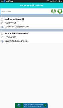 Corporate Address Book apk screenshot