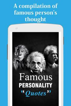 Famous personality Quotes poster