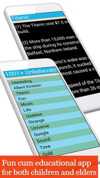1001+ unbelievable facts apk screenshot