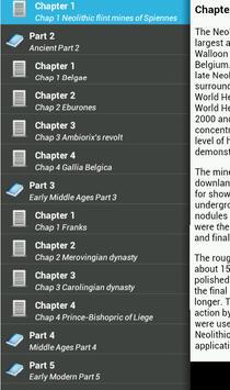 History of Belgium apk screenshot
