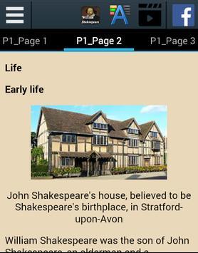 William Shakespeare Biography apk screenshot