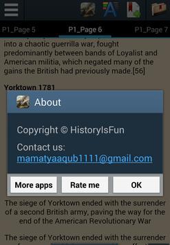 American Revolution History apk screenshot