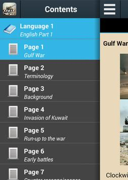 Gulf War History poster