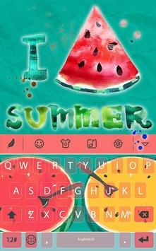 Summer watermelon for Keyboard poster