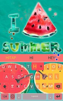 Summer watermelon for Keyboard apk screenshot