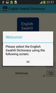 English Swahili Dictionary apk screenshot