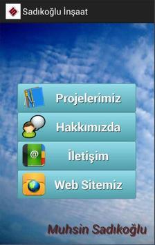 Sadıkoğlu İnşaat poster