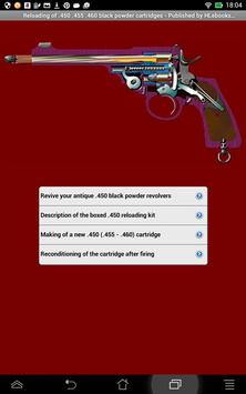 Reloading new .450 cartridges poster