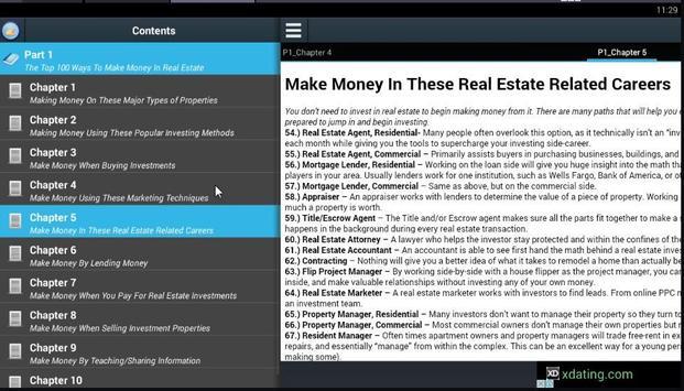 Top 100 Ways Make Money Estate apk screenshot