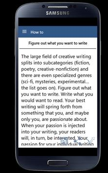 How To Become Writer apk screenshot