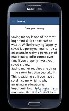 How To Become Rich apk screenshot