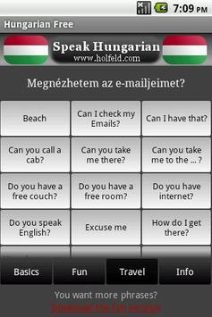 Speak Hungarian Free apk screenshot