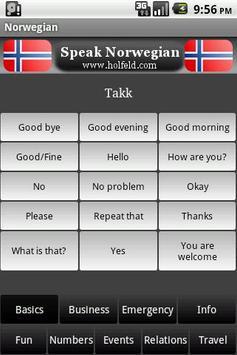 Speak Norwegian Free poster