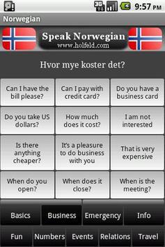Speak Norwegian Free apk screenshot