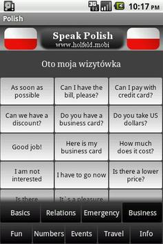 Speak Polish Free apk screenshot