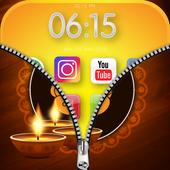 Zipper Lock Screen : Hindu God icon