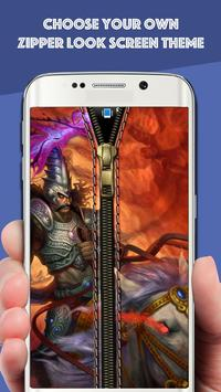 Zipper Lock Screen : Hindu God poster