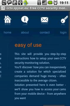 CCTV security monitoring free apk screenshot