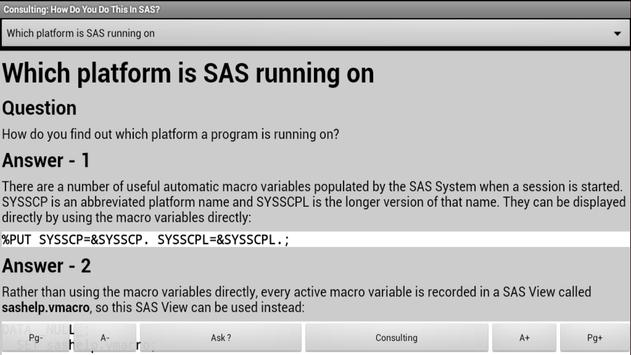 Consulting: Do This in SAS? apk screenshot