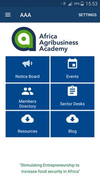 Africa Agribusiness Academy poster