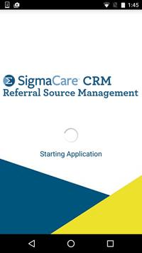 SigmaCare CRM poster