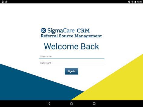 SigmaCare CRM apk screenshot