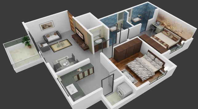 Unique Home Design 3D poster
