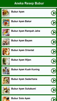 Resep Bubur poster