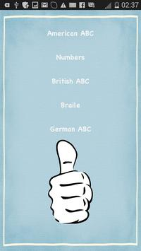 Sign Language List with sounds poster