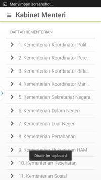 Kabinet Menteri Jokowi JK apk screenshot