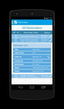 Call-a-Sure: Call Reminders apk screenshot